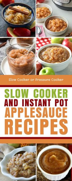 Homemade Applesauce is perfect for fall, and here's a great collection of Slow Cooker and Instant Pot Applesauce Recipes! [found on Slow Cooker or Pressure Cooker] #SlowCookerorPressureCooker #SlowCookerApplesauce #ApplesauceRecipes Applesauce Recipes, Homemade Applesauce, Apple Recipes, Crockpot Recipes, Great Recipes, Vegan Recipes, Dinner Recipes, Vegan Slow Cooker, Slow Cooker Apples