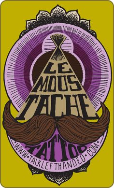 Le Moustache Tattoo Parlour stickerart Jun  by jarmonuutre