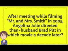 Trivia Of The Day, Mr And Mrs Smith, A Decade, Brad Pitt, Angelina Jolie, Husband, Youtube, Youtubers, Youtube Movies