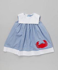 Look what I found on #zulily! Blue Crab Sailor Dress - Infant & Toddler #zulilyfinds