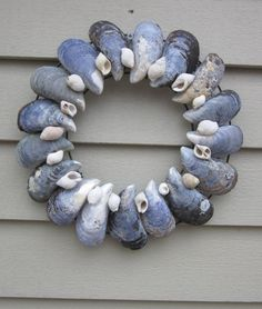 Maine  Sea Shell wreath via Etsy