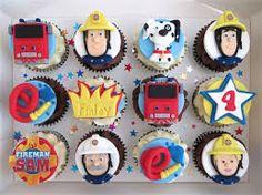 Image result for fireman sam birthday cupcakes