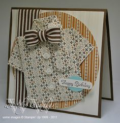 cool shirt and tie card. instructions for the shirt on the blog, have to try it!