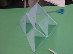 Making A Tetrahedral Kite- Dad and I made one for 7th grade science and I got an A!