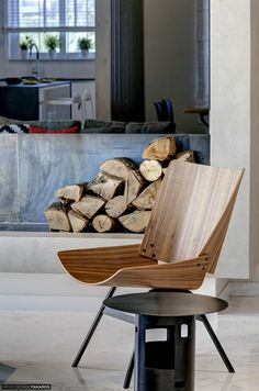 Apartment in Voula Firewood, Architecture Design, Chair, Furniture, Home Decor, Woodburning, Architecture Layout, Decoration Home, Room Decor