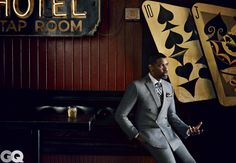 Denzel Washington GQ Photo Shoot - Love love this picture! It's classic with a hint of vintage!