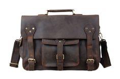 Vintage Genuine Leather Briefcase, Messenger Bag, Laptop Bag 7200 from RockCow… Briefcase Women, Leather Briefcase, Leather Satchel, Laptop Briefcase, Cuir Vintage, Vintage Leather, Handmade Leather, Vintage Bags, Macbook Bag