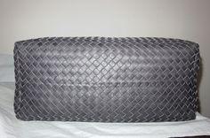 22a8debd27 BOTTEGA VENETA Ferro Gray Woven Umbria Leather Sloane Hobo Bag Mint