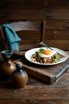 From The Kitchen: Braised Italian Lentils and Eggs with Pesto