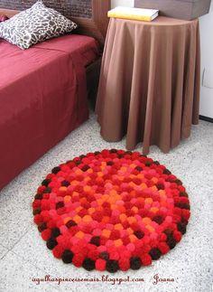 pompom rug tutorial