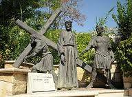 Lungo la via Bertolino - già impraticabile sentiero di campagna - è stata realizzata una maestosa Via Crucis con sculture in bronzo dell'artista Ubaldo Ferretti.