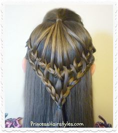 Hairstyles For Girls - Princess Hairstyles: Feather Braid Everyday Hairstyles, Easy Hairstyles, Girl Hairstyles, Beautiful Braids, Gorgeous Hair, Medium Hair Styles, Curly Hair Styles, Fishtail Braid Hairstyles, Hairdo Wedding