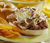 Pork and Slaw Barbecue Rolls