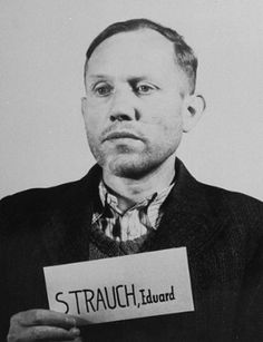 Eduard Strauch (17 August 1906 – 15 September 1955) was an SS-Obersturmbannführer, commander of Einsatzkommando 2, commander of two Nazi organizations, the Security Police (German: Sicherheitspolizei), or Sipo, and the Security Service (German: Sicherheitsdienst, or SD), first in Belarus – then called White Russia or White Ruthenia – and later in Belgium. In October 1944, he was transferred to the military branch of the SS (Waffen-SS).