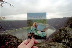 Postcard, Loreley Cliffs, near Mainz, Germany