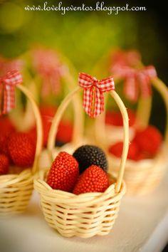 Berries in a bigger basket