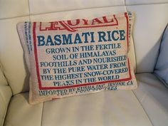 pillow from a rice bag