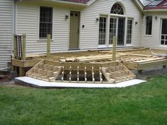 deck stair construction | Cascading stair framing