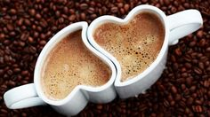 A beautiful picture of #Coffee In #Heart Shaped #Cups HD downloaded from http://alliswall.com