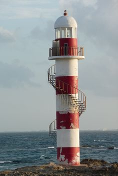 Punta Cancun Lighthouse located on the north-east coast of the Yucatán PeninsulaQuintana RooMexico21.137997,-86.740703