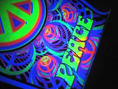 Another super awesome poster and definitely one I want!!! it's hippie and black light!