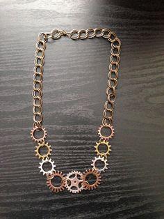 Trendy Steampunk Gear Statement Jewelry by ArcanumByAerrowae