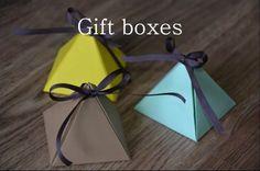 Cute gift boxes Video tutorial: https://www.youtube.com/watch?v=4GUzxfZXIe0&list=PLe4zhk6eWNs14y02zsEJ3DbQl-xnasAYQ&index=3  #gift #box #giftbox #surprise #diy #doityourself #tutorial