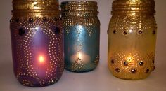 BOHO Mason Jar Lanterns