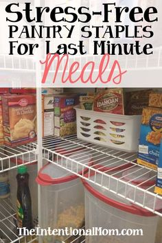 Pantry Staples Every Kitchen Must Have is part of Budget meals - Keeping some staples on hand to create meals in a flash is an amazing frugal tip Keeping these things in your pantry will help maintain the family budget Frugal Tips, Frugal Meals, Cheap Meals, Budget Meals, Freezer Meals, Inexpensive Meals, Frugal Recipes, Easy Meals, Food Budget