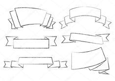 Ribbon banner collection — Stock Illustration Ribbon Banner, Wall Decal Sticker, Birds In Flight, Royalty Free Images, Illustration, Collection, Flying Birds, Illustrations
