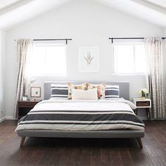 Take a peek at @cinsarah's open and airy Mid-Century style bedroom, on the blog today! #LinkInProfile #MCM #mywestelm