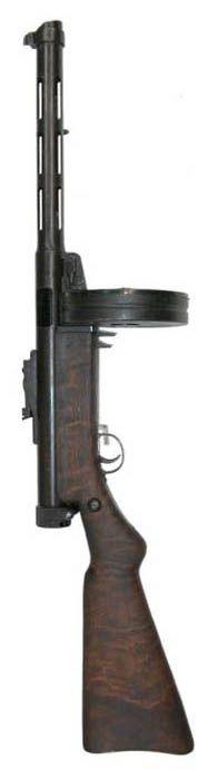 Finnish Suomi M/31 sub-machine gun with 71-round drum magazine, standard version. Devoloped from 1920 - 1930, in use until 1944. http://www.weapon.ge/index.php?sel=1=361===4=en
