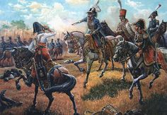 """""""Marshal Murat and his staff at the Battle of Krasnoi"""""""