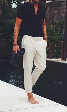 How to Pull Off Simple Plain Outfits Mens Fashion | #MichaelLouis - www.MichaelLouis.com #MensFashionWhite
