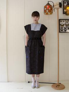 Lamp harajuku cosmic wonder 久留米絣の甚平ドレス ワンピース・ドレス H.P.F,MALL(えいちぴーえふもーる) H.P.F, MALL