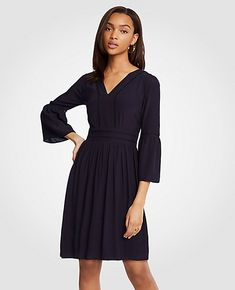 Shop Ann Taylor for effortless style and everyday elegance. Our Cutout Flare Sleeve Dress is the perfect piece to add to your closet.
