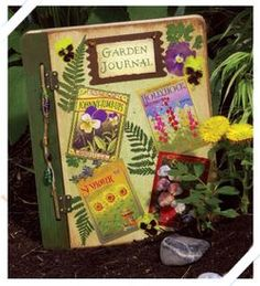 Diy journal with seed packets and other useful info.