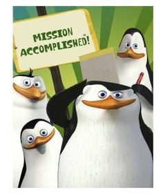 Penguins of Madagascar Thank You Notes (8 ct) - List price: $5.99 Price: $4.95 Saving: $1.04 (17%)