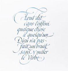 claude mediavilla - Calligraphy Gallery