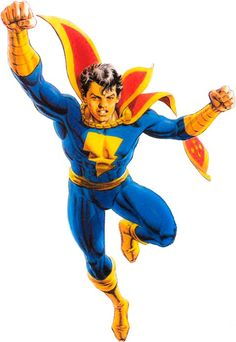 Captain Marvel Jr Freddy Freeman Blue Jumpsuit with Red Cloak Cosplay Costume Captain Marvel Jr, Mary Marvel, Original Captain Marvel, Comic Book Characters, Comic Character, Comic Books Art, Manga Anime, Dc Comics Collection, Dr Fate