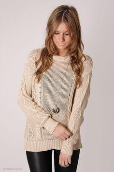 marlow knit jumper - beige