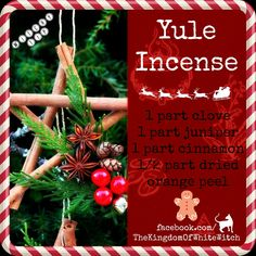 Yule Incense`*.¸.*´★¸.•´¸.•*¨) ¸.•*¨) ★(¸.•´ (¸.•´ .•´ ¸¸.•¨¯`•. ★... ¨`*•.¸`*.¸.*´ ★ ¸.•´¸.•*¨) ¸.•*¨) ★ (¸.•´ (¸.•´ .•´ ¸¸.•¨¯`•. ★... ¨`*•.¸ Sylwia)o(  #ritual #spell #magick #magic #witchcraft #witchyway #whitewitch #witch #pagan #conjure #wicca #wiccan #medical #doctrine #craft #witchyshop #health #thekingdomofwhitewitch #witchytip #witchcraft #witchywoman #witchquotes #wiedźma #czarownica #mądrababa #quotes #hearth #home #incense #yule #xmas #chrstmas