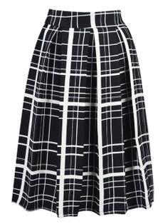 Shop Black Gingham Midi Skirt from choies.com .Free shipping Worldwide.$25.99