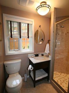 Small Bathroom Unique Design LOVE THESE SHADES