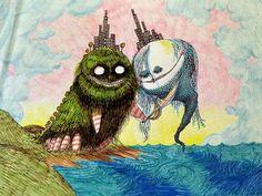 Original drawing by Tim Burton. From Wired.com. #TimBurton