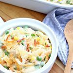 Cheesy Chicken Pot Pie with Hashbrown Crust | Let's Dish Recipes