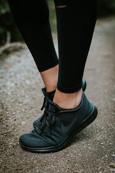 timeless design e8717 67f95 all black nike sneakers, nike free rn sneaker, nike activewear, nike  sneakers,