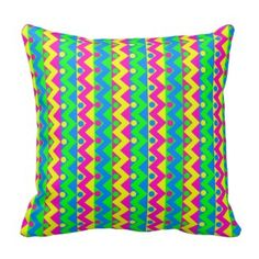 Polka Dot Zigzag Print Pillow