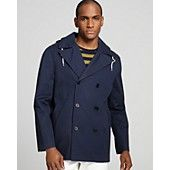 PS by Paul Smith Lightweight Hooded Cotton Pea Coat