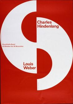 Poster »Charles Hindenlang - Louis Weber - Kunsthalle Basel«. Design: Emil Ruder, 1955